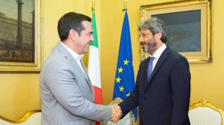 Συνάντηση Τσίπρα με τον Roberto Fico – Τι συζήτησαν