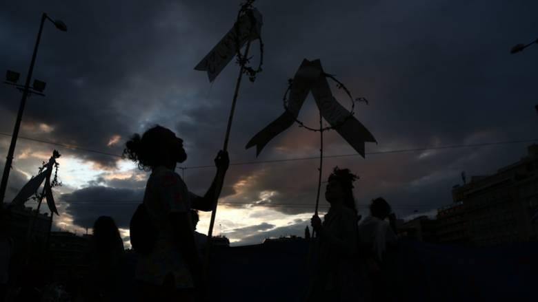 «Σκοτώνοντας τη γη, σκοτώνεις τη ζωή»: Πορεία στο κέντρο της Αθήνας για την κλιματική αλλαγή