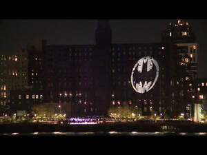 Το σήμα το Batman εμφανίστηκε και στο Μπρούκλιν της Νέας Υόρκης.