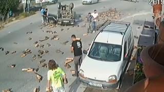 Σοκαριστικό βίντεο από τροχαίο αγροτικού με φορτηγάκι στα Ιωάννινα