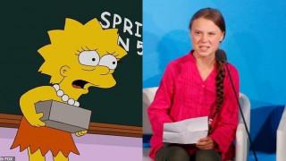 Προέβλεψαν οι Simpsons την Γκρέτα Τούνμπεργκ και την «κόντρα» της με τον Τραμπ;
