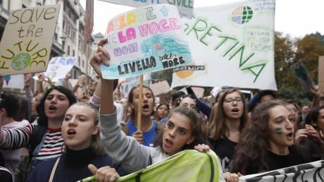 Ιταλία: Ένα εκατομμύριο άνθρωποι διαδήλωσαν για την κλιματική αλλαγή