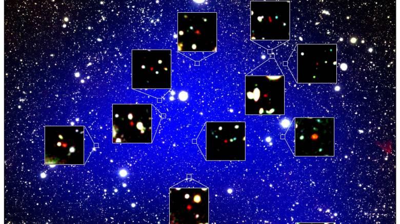 Ανακαλύφθηκαν 12 γαλαξίες του αρχαιότερου γνωστού γαλαξιακού σμήνους