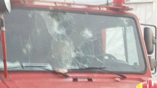 Μόρια: Ζημιές σε πυροσβεστικό - «Έχουμε γυναίκα και παιδιά», λένε οι πυροσβέστες