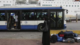 Στο λιμάνι του Πειραιά 215 μετανάστες από τη Μόρια