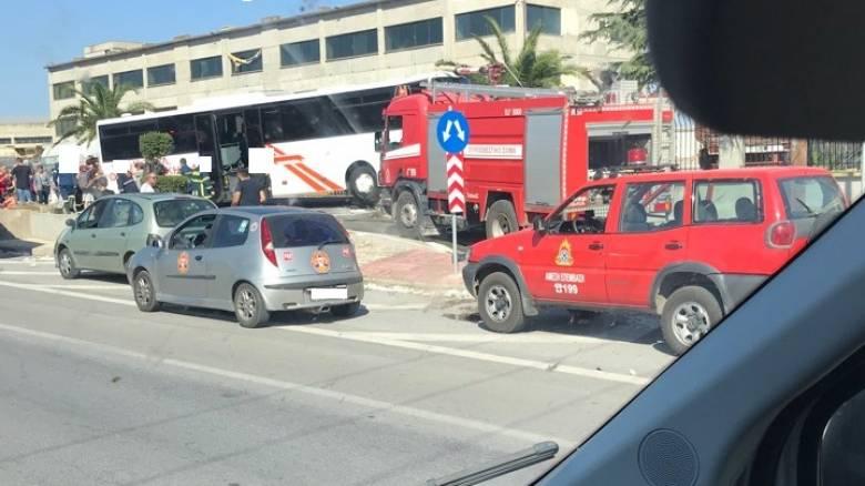 Θεσσαλονίκη: Τροχαίο με λεωφορείο του ΚΤΕΛ – 12 τραυματίες
