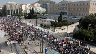 Απεργία: Πορείες εξπρές και με μικρή συμμετοχή στο κέντρο της Αθήνας