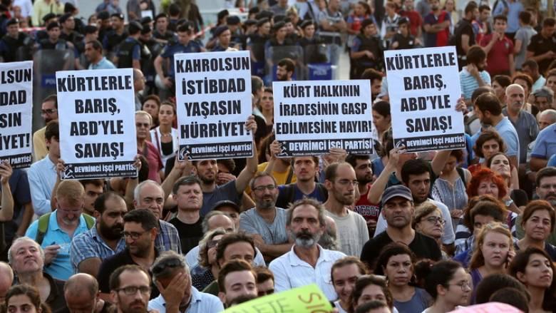 Συρία: Χιλιάδες Κούρδοι διαδήλωσαν κατά των τουρκικών απειλών για στρατιωτική επέμβαση