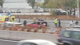 Τροχαίο στην Αθηνών – Λαμίας με έναν τραυματία