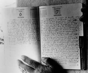 1967, Βολιβία. Το ημερολόγιο του Ερνέστο Τσε Γκεβάρα, στο Βαλεγκράντε της Βολιβίας. Ο Γκεβάρα εκτελέστηκε στη Βολιβία στις 9 Οκτωβρίου 1967.