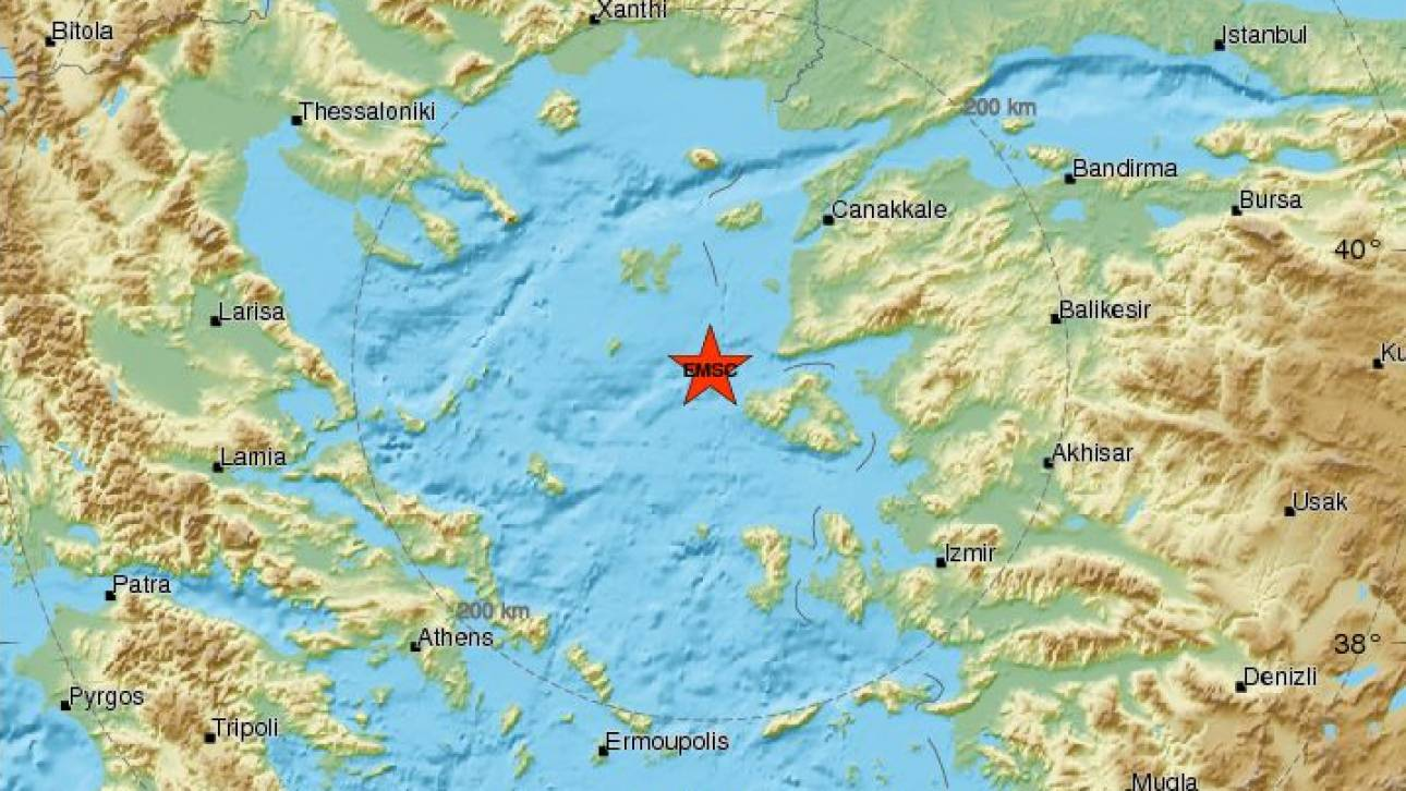 Σεισμός στη Μυτιλήνη - Αισθητός σε πολλές περιοχές