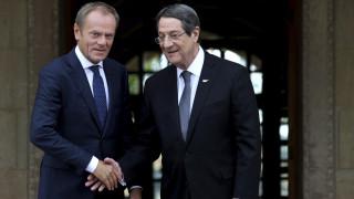Συνάντηση Τουσκ - Αναστασιάδη: Αλληλεγγύη της ΕΕ προς την Κύπρο ενόψει νέων τουρκικών γεωτρήσεων