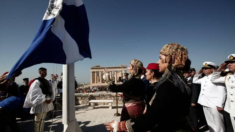 Απελευθέρωση της Αθήνας: Η επετειακή έπαρση της ελληνικής σημαίας στην Ακρόπολη