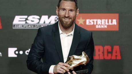 Κορυφαίος σκόρερ ο Μέσι: Παρέλαβε το έκτο «χρυσό παπούτσι»!