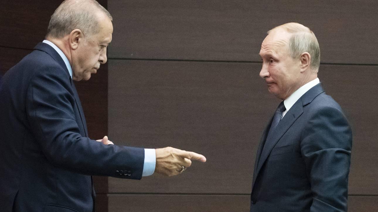 Στη Ρωσία θα μεταβεί ο Ερντογάν για συνομιλίες με τον Πούτιν για την τουρκική εισβολή στη Συρία