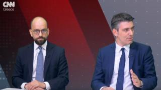 Αντιλογίες: Κώστας Μπάρκας και Τάσος Γαϊτάνης στο στούντιο του CNN Greece
