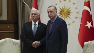 Ερντογάν: Η κοινή προσπάθεια με τις ΗΠΑ θα προάγει την ειρήνη στη Συρία