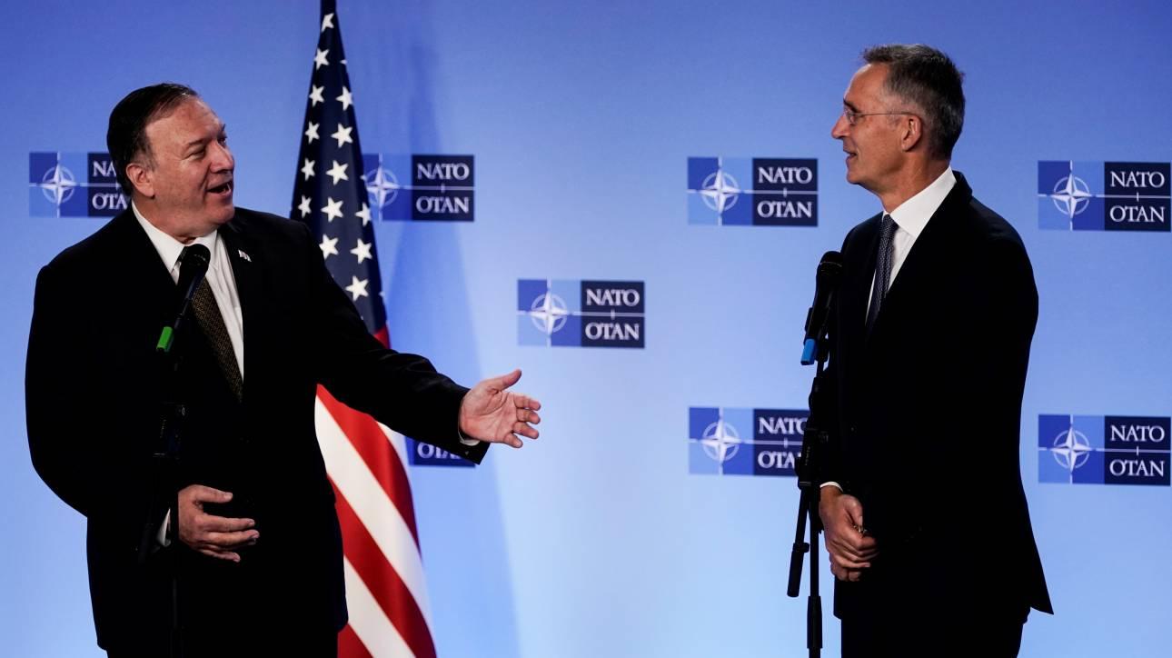 Συνάντηση Στόλτενμπεργκ - Πομπέο: Το ΝΑΤΟ χαιρετίζει τη συμφωνία για κατάπαυση πυρός στη Συρία