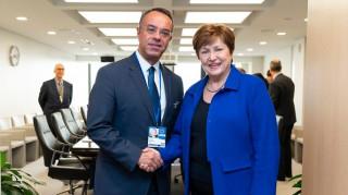 Τα μέτρα κοινωνικής προστασίας στο επίκεντρο της συνάντησης Σταϊκούρα- Γκεοργκίεβα