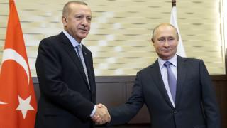 Σε εξέλιξη η συνάντηση Πούτιν - Ερντογάν