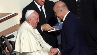 Συνάντηση Νίκου Δένδια με τον πάπα Φραγκίσκο στο Βατικανό
