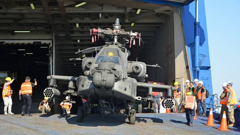 Έφτασαν στον Βόλο τα ελικόπτερα των ΗΠΑ