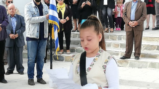 28η Οκτωβρίου: Με μία μαθήτρια πραγματοποιήθηκε η παρέλαση στον Απόλλωνα της Νάξου