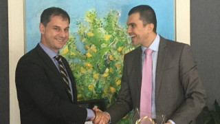 Συνάντηση του υπουργού Τουρισμού Χάρη Θεοχάρη με τον υφυπουργό Τουρισμού της Κύπρου, Σάββα Περδίο