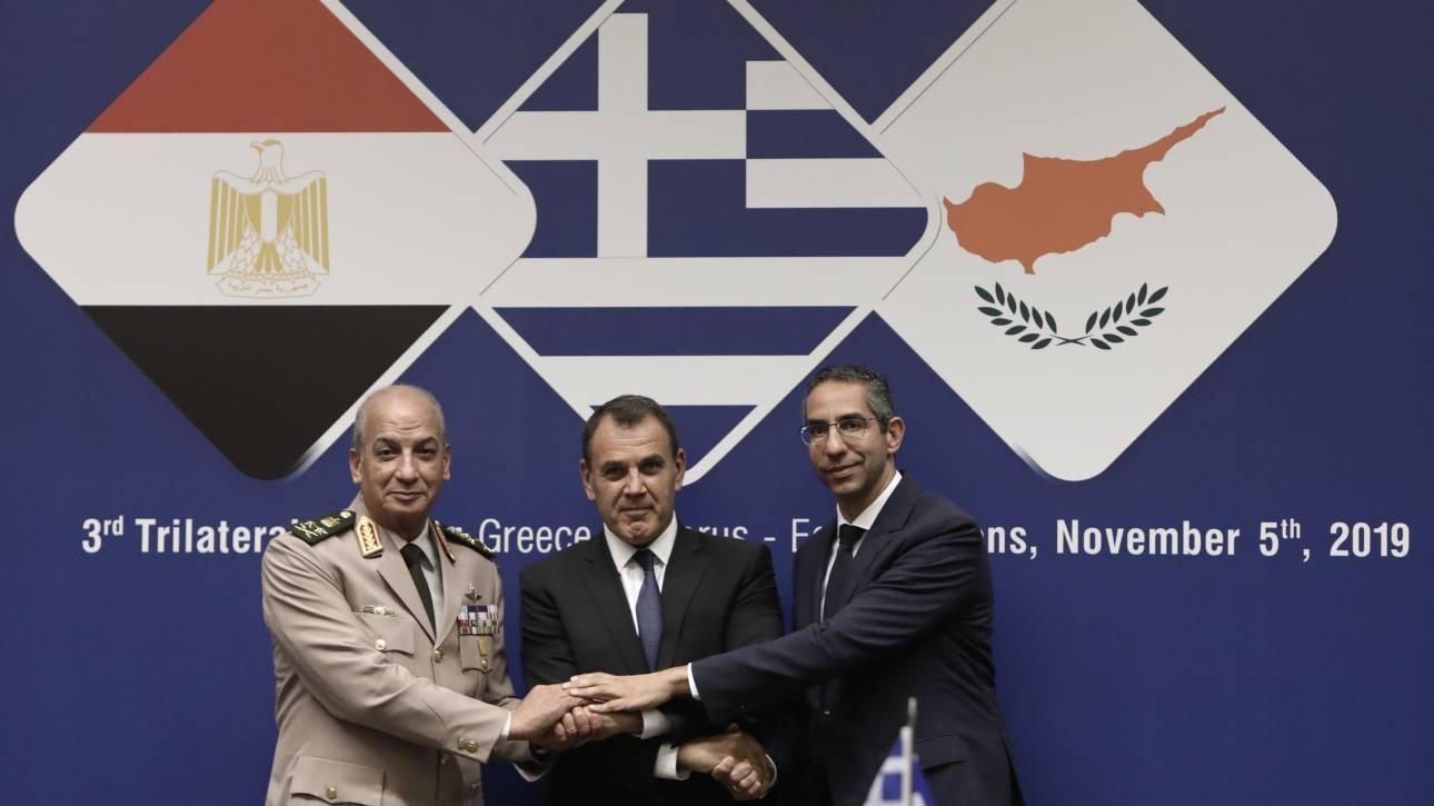 Ελλάδα, Κύπρος και Αίγυπτος καταδικάζουν την Τουρκία για Συρία, Αιγαίο και κυπριακή ΑΟΖ