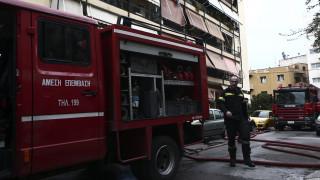 Φωτιά σε υπόγειο κτηρίου στο Παγκράτι
