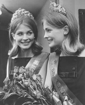 """1963. Καλιφόρνια. Η 18χρονη Κάντις Μπέργκεν, κόρη του κωμικού Έντγκαρ Μπέργκεν στέφεται """"Μις Πενσιλβάνια""""."""