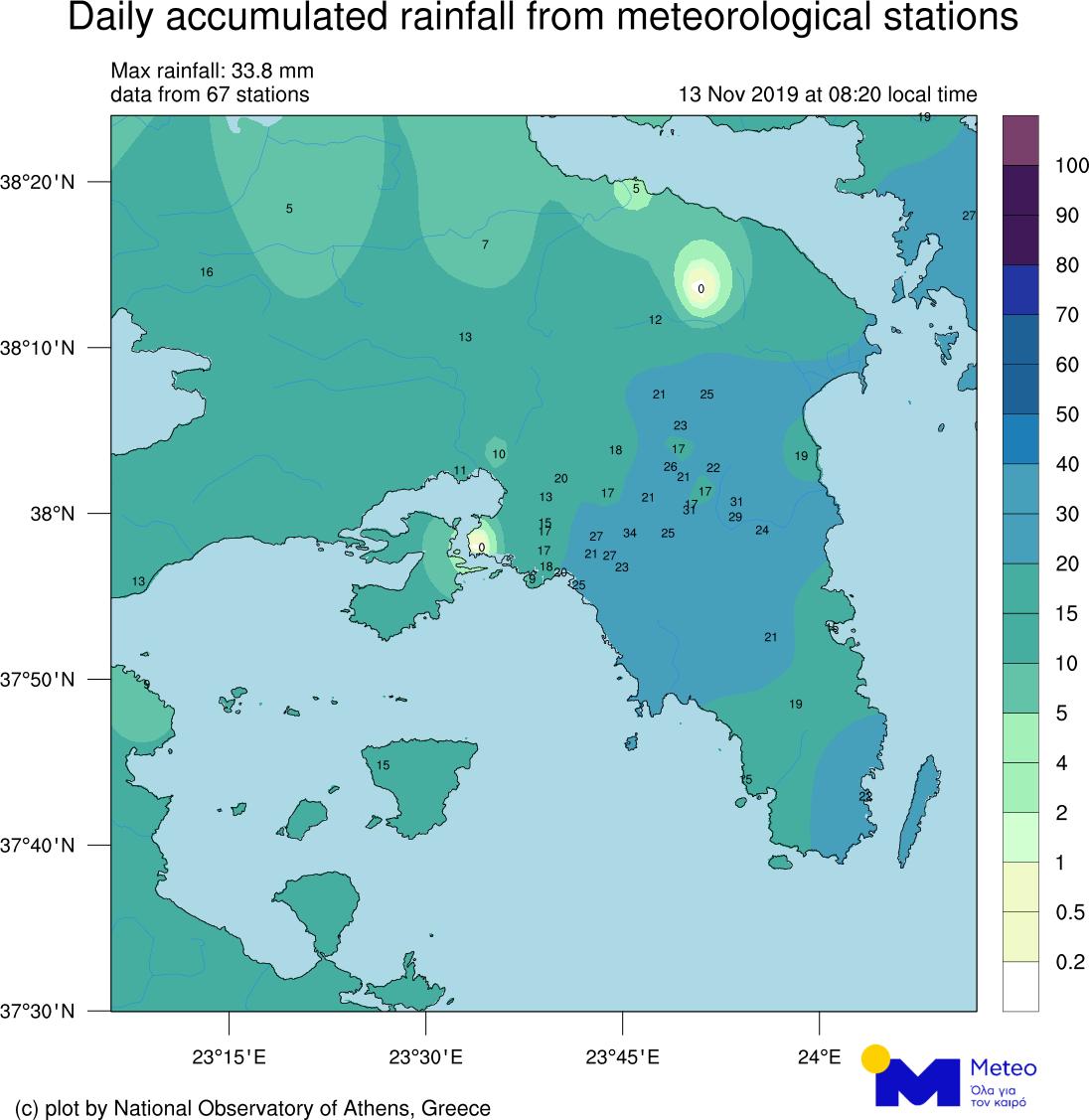 Rains Att Nov 13 0900