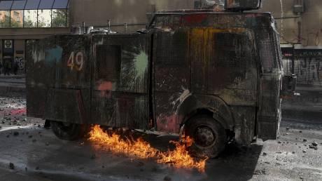 Χιλή: Οι αιματηρές συγκρούσεις συνεχίζονται παρά τα μέτρα της κυβέρνησης