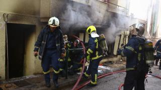 Φωτιά σε κτήριο στην Κυψέλη