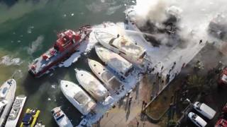 Συγκλονιστικό βίντεο από drone της Πυροσβεστικής από την κατάσβεση της φωτιάς στη Μαρίνα Γλυφάδας