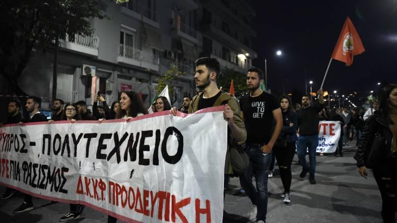 Πορεία για την επέτειο του Πολυτεχνείου στη Θεσσαλονίκη