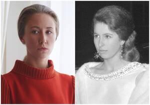 Η Έριν Ντόχερτι (αριστερά) είναι η πριγκίπισσα Άννα