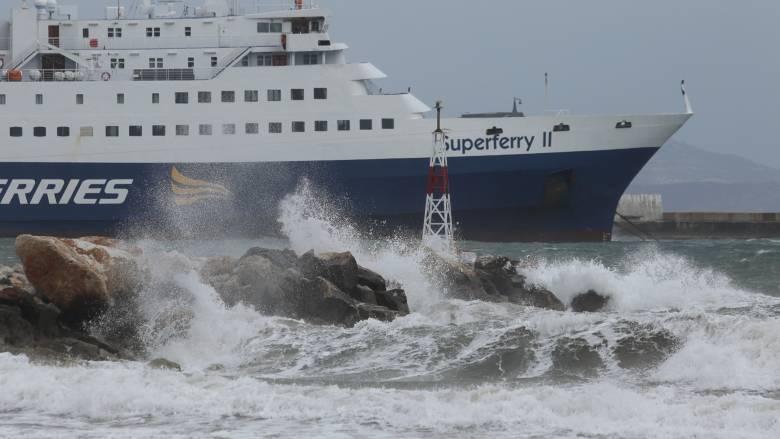 Κακοκαιρία «Γηρυόνης»: Σε ποια λιμάνια είναι δεμένα τα πλοία