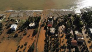 Κακοκαιρία «Γηρυόνης»: Οι καταστροφές στην Κινέτα από ψηλά
