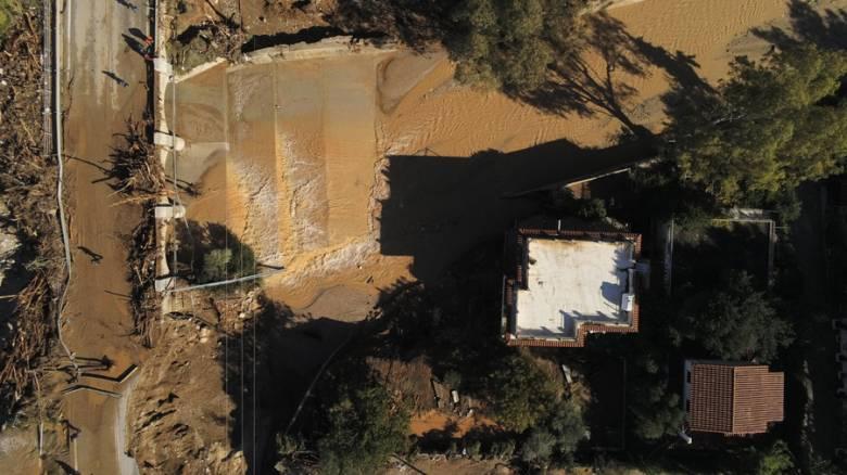 Κακοκαιρία «Γηρυόνης»: Βίντεο από drone αποτυπώνει το μέγεθος της καταστροφής στην Κινέτα