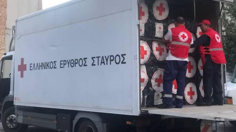 Αποστολή ανθρωπιστικής βοήθειας στην Αλβανία από τον Ελληνικό Ερυθρό Σταυρό