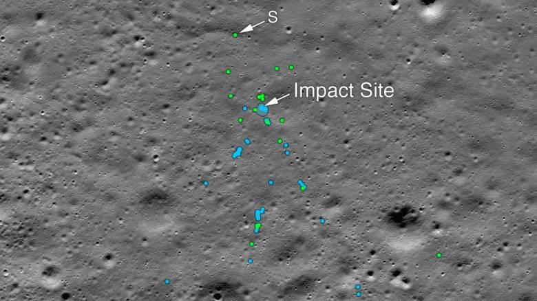 NASA: Εντοπίστηκαν τα συντρίμμια του ινδικού σκάφους Vikram στη Σελήνη