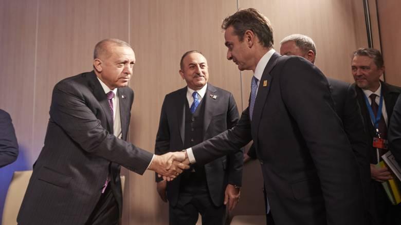 Ολοκληρώθηκε η κρίσιμη συνάντηση Μητσοτάκη - Ερντογάν στο Λονδίνο