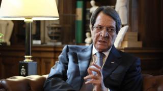 Αναστασιάδης για Κυπριακό: Ειλικρινής βούληση για επανέναρξη του διαλόγου