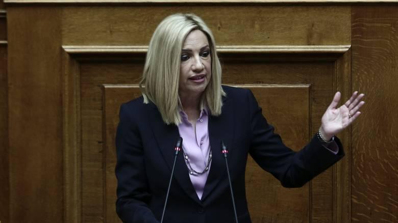 Γεννηματά για Μητσοτάκη - Ερντογάν: Περίμενα περισσότερη αποφασιστικότητα από την κυβέρνηση