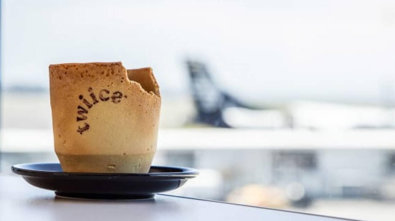 Κούπες καφέ που... τρώγονται προσφέρει η Air New Zealand