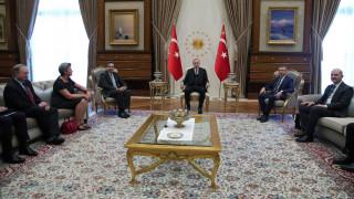 Σχοινάς και Γιόχανσον συναντήθηκαν με Ερντογάν για το προσφυγικό
