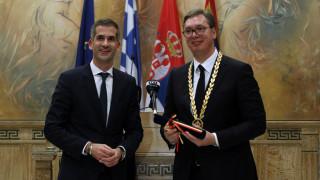 Με το Χρυσό Μετάλλιο Αξίας της Πόλεως των Αθηνών τίμησε ο Μπακογιάννης τον Βούτσιτς