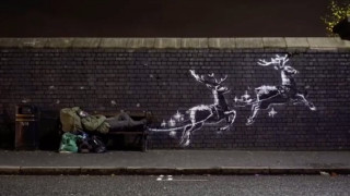 Χριστούγεννα 2019: Το μήνυμα του Banksy - Ο Άγιος Βασίλης είναι άστεγος
