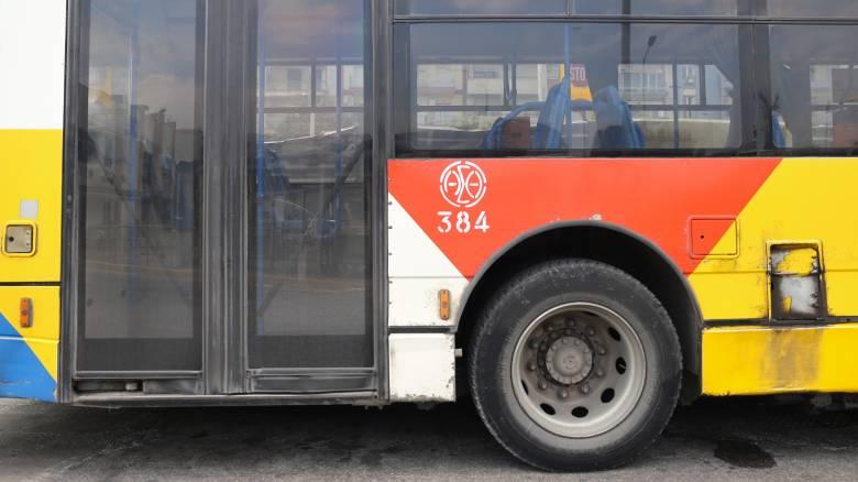 Κακοκαιρία «Διδώ»: Λεωφορείο του ΟΑΣΘ γέμισε νερά